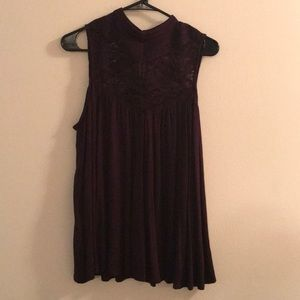 Purple Anthropologie top